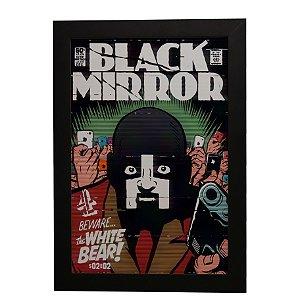 Quadro Decorativo Urso Branco (Black Mirror)