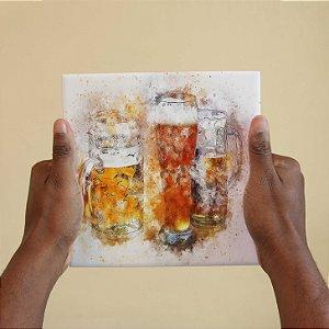 Azulejo Decorativo Cerveja de Aquarela
