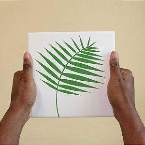 Azulejo Decorativo Planta Verde