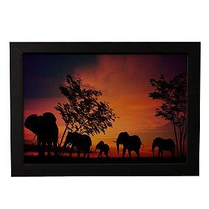 Quadro Decorativo Família de Elefantes