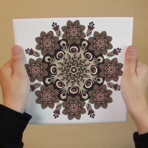Azulejo Decorativo Mandala #4