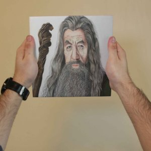Azulejo Decorativo Gandalf O Cinzento