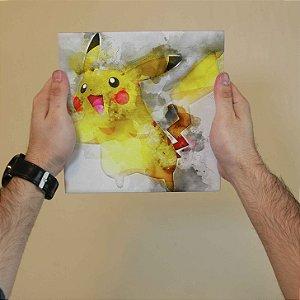Azulejo Decorativo Pikachu de Aquarela