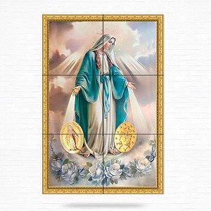 Painel Decorativo de Azulejo Nossa Senhora Medalha Milagrosa