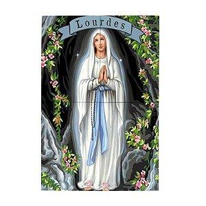 Painel de Nossa Senhora de Lourdes Personalizado em Azulejo
