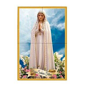 Painel de Nossa Senhora de Fátima Personalizado em Azulejo