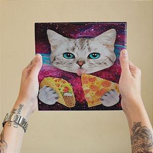 Azulejo Decorativo Gato Galáxia