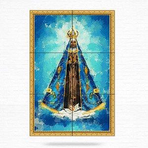 Painel Decorativo de Azulejo Nossa Senhora Aparecida #1