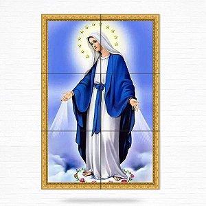 Painel Decorativo de Azulejo Nossa Senhora das Graças