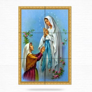 Painel Decorativo de Azulejo Nossa Senhora de Lourdes