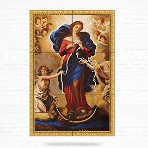 Painel Decorativo de Azulejo Nossa Senhora Desatadora de Nós