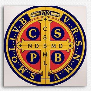 Painel Decorativo de Azulejo Emblema São Bento