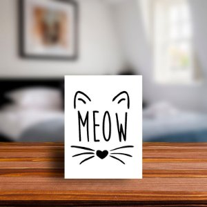 Azulejo Decorativo Meow.
