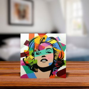 Azulejo Decorativo Marilyn Monroe Abstrato
