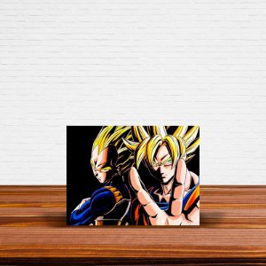 Azulejo Decorativo Vegeta e Goku