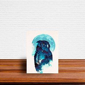 Azulejo Decorativo Coruja Luar