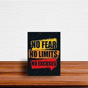 Azulejo Decorativo No Fear No Limits No Excuses