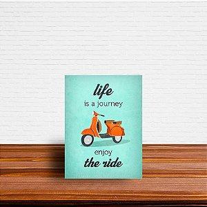 Azulejo Decorativo Life is a Journey
