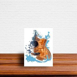 Azulejo Decorativo Violão Aquarela