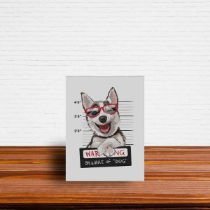 Azulejo Decorativo Cuidado Com o Cão