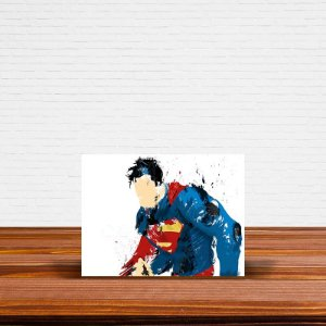 Azulejo Decorativo Superman Aquarela