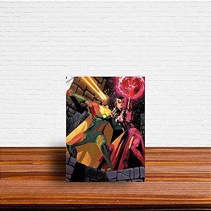 Azulejo Decorativo Visão e Feiticeira Escarlate