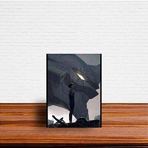 Azulejo Decorativo Shinji e EVA 01