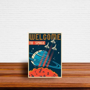 Azulejo Decorativo Welcome To Space