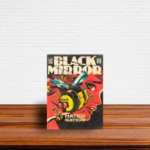 Azulejo Decorativo Black Mirror Hated By Nation