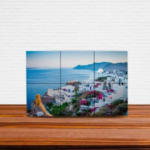 Painel Decorativo de Santorini (Grécia)