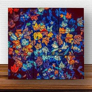 Painel Decorativo Folhas de Outono - Quadrado
