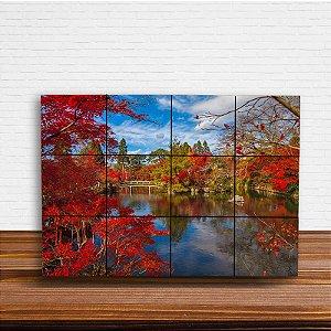 Painel Decorativo Paisagem Lago Japonês