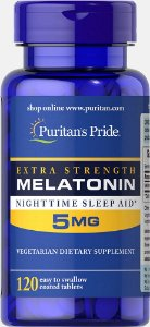 Melatonina Puritan's Pride 5 mg 120 Tabletes