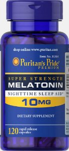 Melatonina Puritan's Pride 10 mg 120 Cápsulas