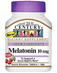 Melatonina 21st Century 10 mg Sublingual 120 Tabletes