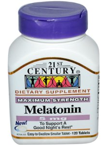 Melatonina 21st Century 5 mg 120 Tabletes