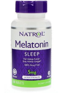 Melatonina Natrol 5 mg Time Release 100 Tabletes