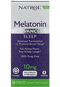 Melatonina Natrol 10 mg Advanced Sleep Dupla Camada 60 Tabletes