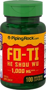 Fo-Ti He Shou Wu 1000 mg Piping Rock 100 Cápsulas