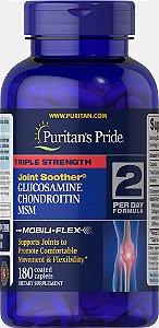 Triple Strength Glucosamina, Condroitina & MSM Puritan's Pride 180 Cápsulas