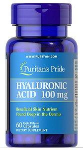 Ácido Hialurônico 100 mg Puritan's Pride 60 Cápsulas