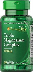 Complexo Triplo de Magnésio 400 mg Puritan's Pride 60 Cápsulas
