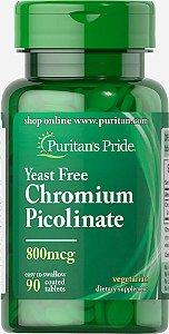 Picolinato de Cromo 800 mcg Puritan's Pride 90 tabletes