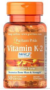 Vitamina K-2 Mena Q7 100 mcg Puritan's Pride 30 Softgels