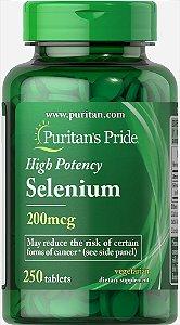 Selênio 200 mcg Puritan's Pride 250 Tabletes