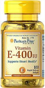 Vitamina E-400 UI (Tocopheryl) Puritan's Pride 100 Softgels