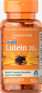 Luteína 20 mg Puritan's Pride 120 Softgels