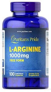 L-Arginina 1000 mg Puritan's Pride 100 Cápsulas