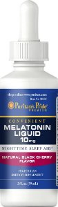 Melatonina Líquida Puritan's Pride 10 mg 59 ml Sabor Cereja