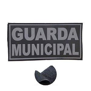 Placa Identificadora Emborrachada Para Costa Do Colete Guarda Municipal